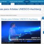 Becas UNESCO artes visuales, mùsica y creaciòn literaria