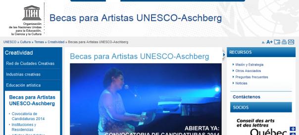 Becas para Artistas UNESCO-Aschberg _ Organización de las Naciones Unidas para la Educación, la Ciencia y la Cultura - 2013-10-01_11.28.41
