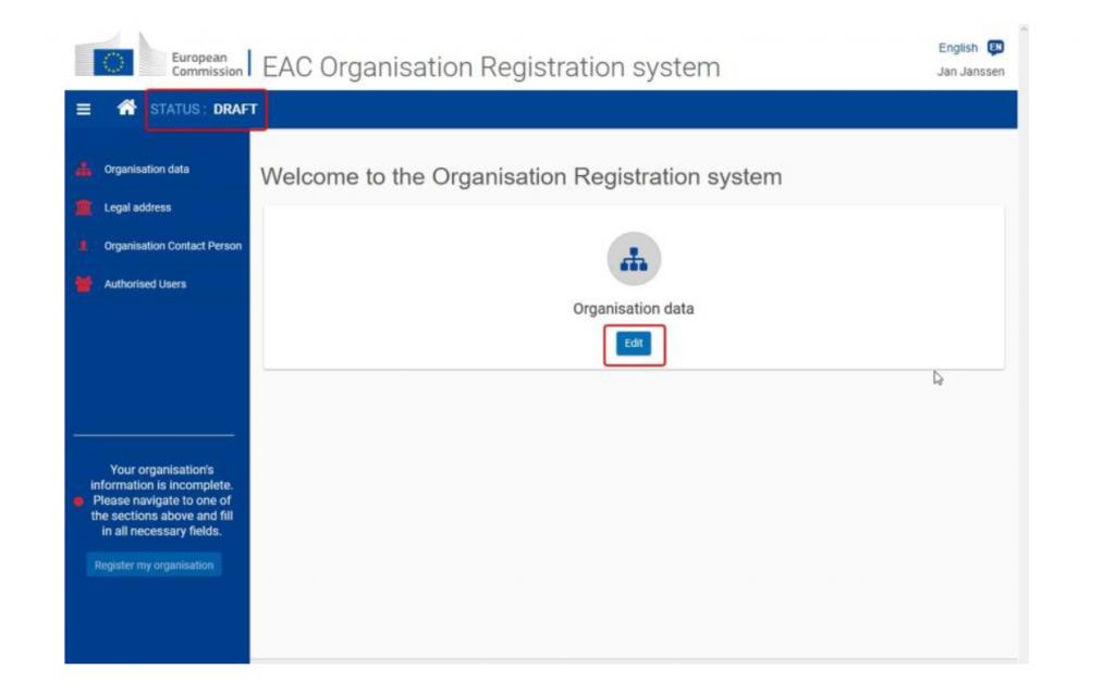 OrganisationID Erasmus+