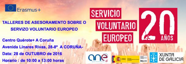 Charla 610x211 - Talleres sobre el Servicio Voluntario Europeo en A Coruña