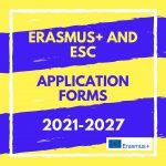 Erasmus plus and European Solidarity Corps application forms