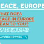 El premio también es tuyo!! Ven a recibir el Premio Nobel de la Paz 2012