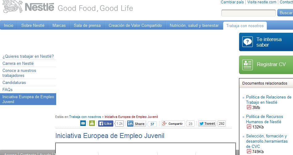 Iniciativa Europea de Empleo Juvenil Nestlé España   2014 09 26 14.47.54 - 100.000 puestos de trabajo y becas para jóvenes