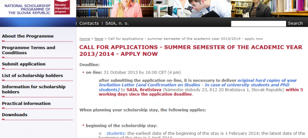National Scholarship Programme - Call for applications - summer semester of the academic year 2013_2014 - apply now - 2013-09-26_12.06.25