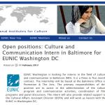 Practicas remuneradas en Balitmora para expertos en comunicacion y cultura