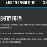Premio europeo de la prensa sobre la excelencia del periodismo